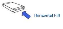 horizontal fill
